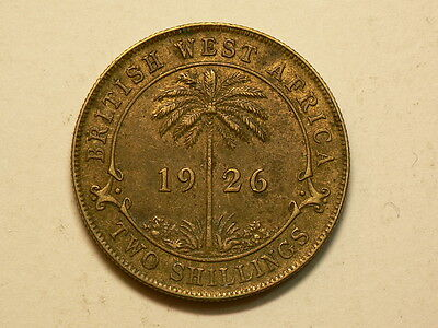 British West Africa, 1926 Two 2 Shilling Coin  #4993