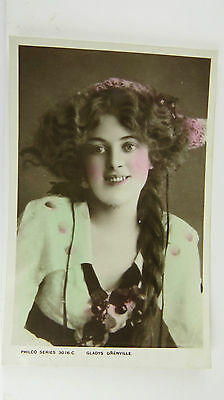 1900s Edwardian Stage Theatre Actress Gladys Grenville Postcard No 3076C