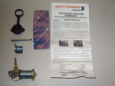 Genuine Knott-Avonride replacement coupling lock barrel to fit Ifor Williams.
