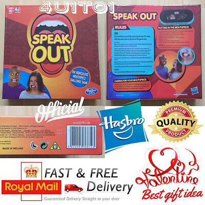 OFFICIAL SPEAK OUT Family Board Game BY HASBRO✔ NEW & SEALED BOX✔ ( a1) RRP £20+