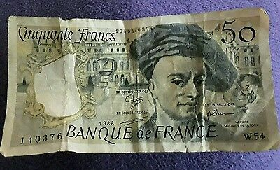 50 franc note