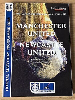 Manchester United V Newcastle United FA Cup Final Match Day Programme 1999