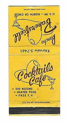 Vintage Matchbook Cover From Rancho Bakersfield Motel in Bakersfield, Calif.