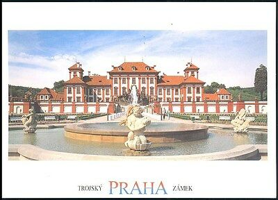 Postcard -Chateau Summerhouse Prague Posted 1997 Stamped