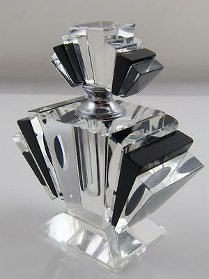 Cut Glass Art Deco Scent Bottle With Scent Rod