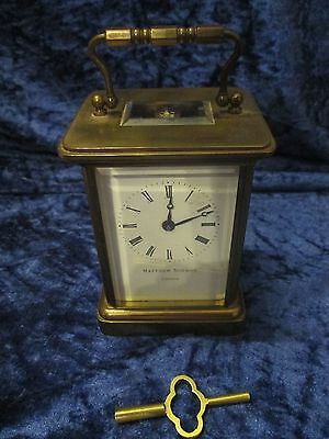 Vintage Matthew Norman London Carriage Clock Excellent Working Order