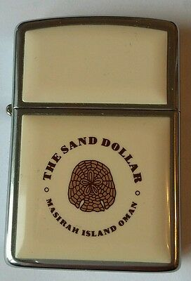 Zippo - Genuine 1990 Zippo - The Sand Dollar Masirah Island Oman - Chrome/Enamel