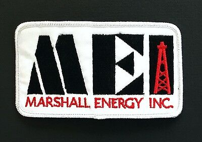 MEI Oil Derrick Patch Vintage Marshall Energy 1980s Gas & Oil Memorabilia Badge