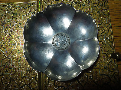Silver Coin Dish Swiss Schilling Coin Pro Deo Et Patria Dated 1700