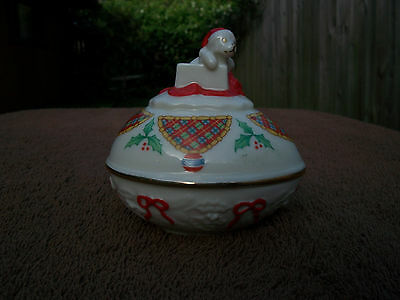 1994 Lenox Christmas Surprise Collector Egg Trinket Box Limited Edition