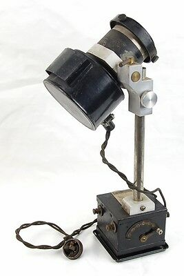 Steampunk Industrial Microscope Illuminator? Lamp Electrical Device Bausch Lomb
