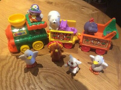 Fisher Price Little People Abc Train With Animals, Excellent