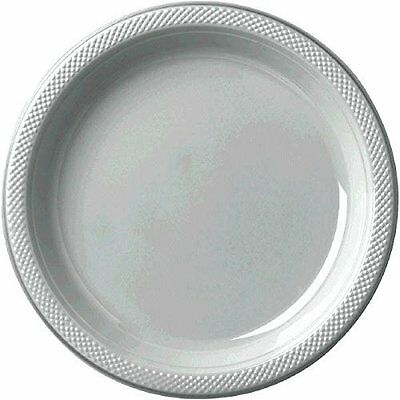"""7"""" Plstc Plate 20 Ct-Silver"""