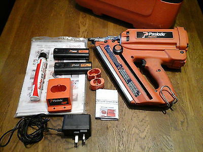 Quality Paslode Im350 1St Fix Impulse Gas Nailer + Batteries Charger Gas + Case