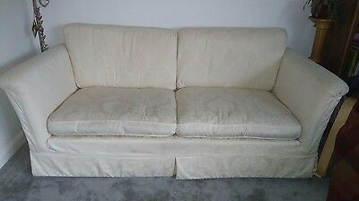 Cream M and S sofa - large 2 seater