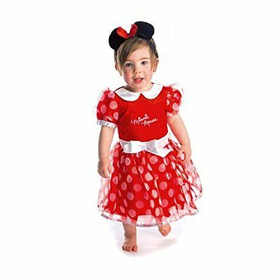Disney Minnie Mouse Red Dress  - 3-6 months -