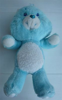 Vintage Peluche Bisounours Bleu turquoise / Care Bears / Kenner