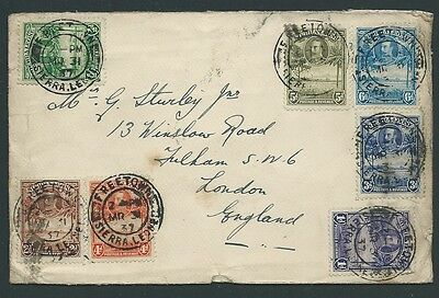 Sierra Leone 1931 Mulifranked To Uk Needs Cleaning 2 Scans