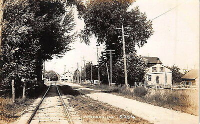 Anchorville Michigan - Early Real Photo Postcard by Pesha