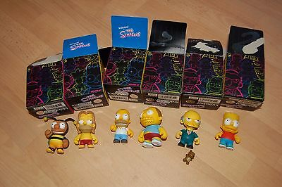 Kidrobot The Simpsons series 1 collectible figures boxed with Rare Bumblebee Man