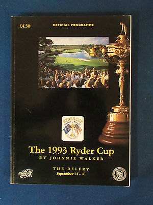 Ryder Cup 1993 Programme - Held at The Belfry - 404 pages