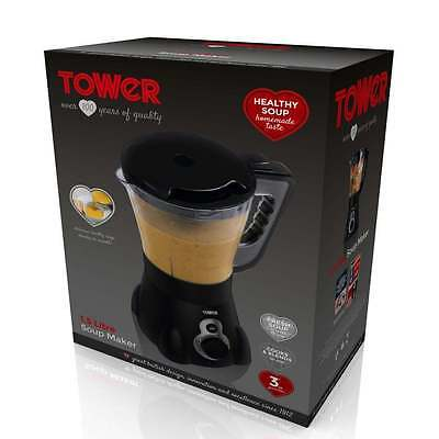 Tower Homemade Soup Maker 1.5 L Blender Chunky Smooth Baby Food Puree Cooker