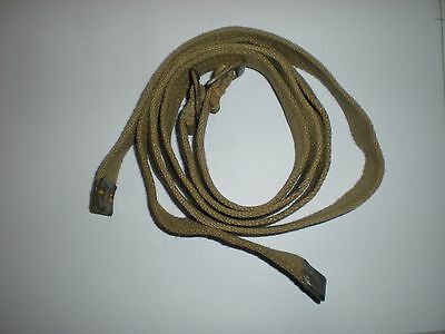 Original Wwii Dated British P37 Webbing General Purpose Straps - 1 Pair