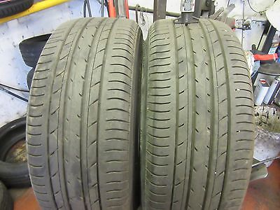 2 x 215 45 17 YOKOHAMA E70 PART WORN TYRES 5.5MM