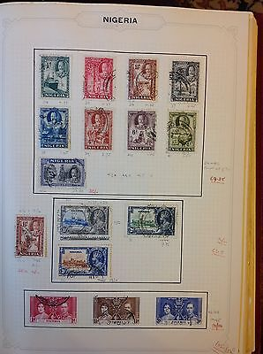 Nigeria 1935-6-7 various used stamps SG34-48 SG Cat Val £105+