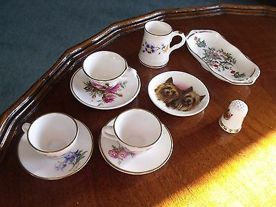 Collection of ceramic miniatures by Caverswell, Aynsley & Hammersley