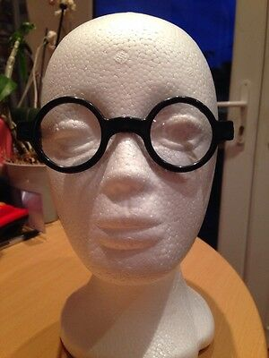 Children's Toy Round Frames Glasses With Clear Lenses Ideal Fancy Dress