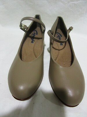 Capezio+Style 551+Women's Leather Jr. Footlight Character Shoe+Tan+Size 11 M