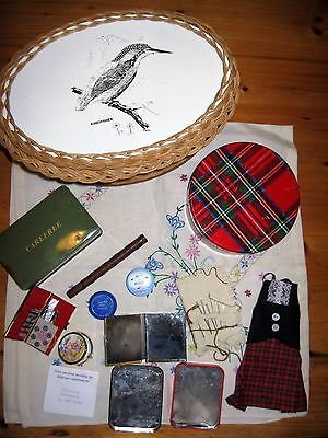 Job lot vintage sewing items and basket