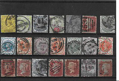 Old Classic Victorian Stamps Inc 1/- Green Jubilee