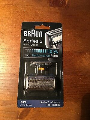 BRAUN 31S Replacement Foil + Cutter FOR FLEX INTERGRAL, ULTRA SPEED AND SERIES 3