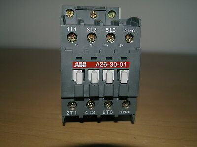 Abb A26-30-10 3Pole Contactor 230V Operating Coil Voltage Unused