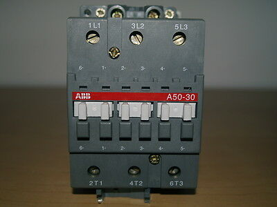 Abb A50-30 3Pole Contactor 100A Ac1 230V Operating Coil Voltage Unused