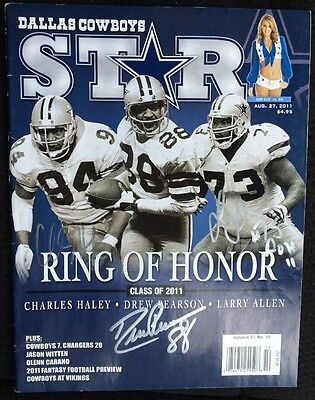 SIGNED BY ALL 3 Class Of 2011 DALLAS COWBOYS Ring Of Honor RoH AUTOGRAPHED MAG