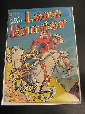 Wow! LONE RANGER #4 1948 (FN++) Early, RARE, Dell Western Comic! HTF!