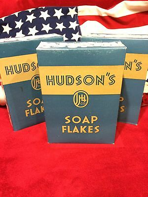 """1943 """"Hudson's Soap Flakes"""" Box   In Unopened Original Perfect Condition"""