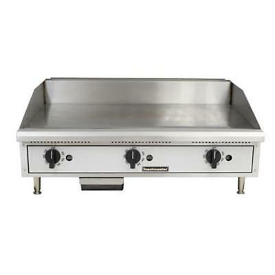 """Toastmaster TMGT36 36"""" Thermostatic Countertop Gas Griddle - Flat Top Grill"""