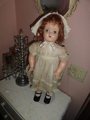 24   composition doll w/hard plastic head marked alexander