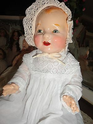 composition doll  26 large vintage baby doll