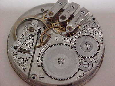 Elgin national watch company movement dial and hand for parts or repair 3Finger7