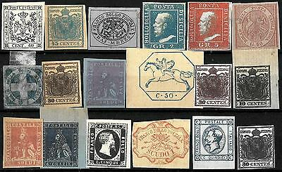 900 - Italy - States - Small Selection Of Repros, Forgeries, Fakes, Falsos, Faux