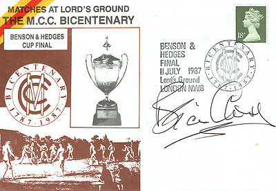Brian CLOSE Signed Autograph Cricket Bicentenary First Day Cover FDC COA AFTAL