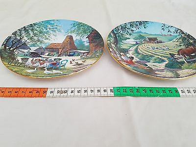 Royal Worcester (TWO) Plates depicting ''The Darling Buds of May''