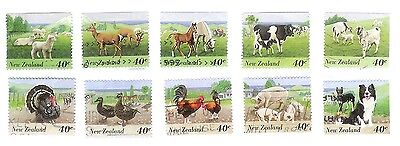New Zealand 1995 Complete Farm Animals Stamps - One Picture