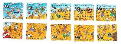 New Zealand 1994 Complete Beach Stamps - One Picture