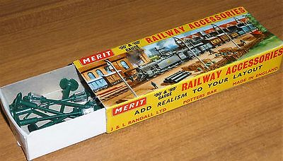 MERIT OO & HO boxed station accessory - 8 gas lamp posts